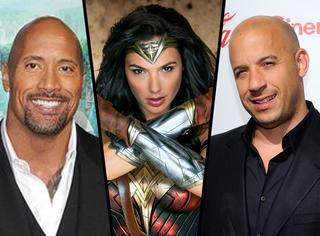 全球演员票房榜:神奇女侠第三,前两名是《速8》两个光头