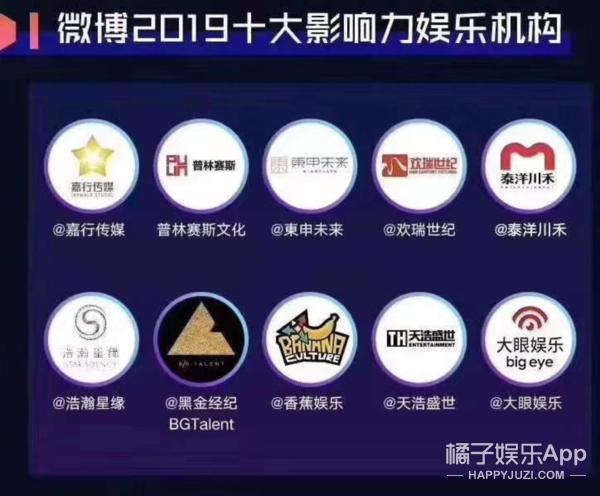 欢瑞世纪获微博2019十大影响力娱乐机构不负初心载誉前行