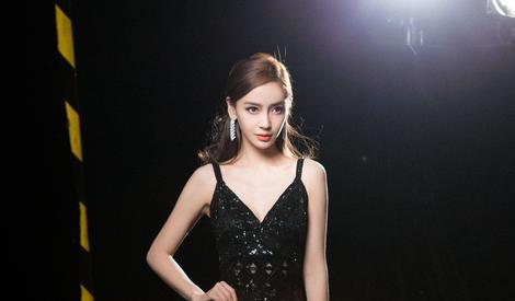 baby穿黑色透视裙宛若黑天鹅,月夜中尽情绽放你的美