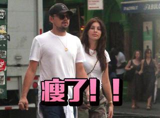 小李子和女友牵手现身街头,他现在竟然这么瘦了……