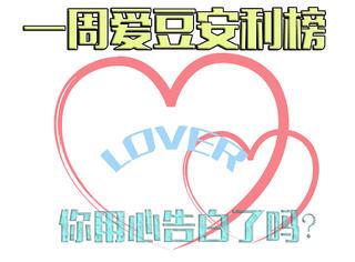 【一周愛豆安利榜 】這周你用心告白了嗎?