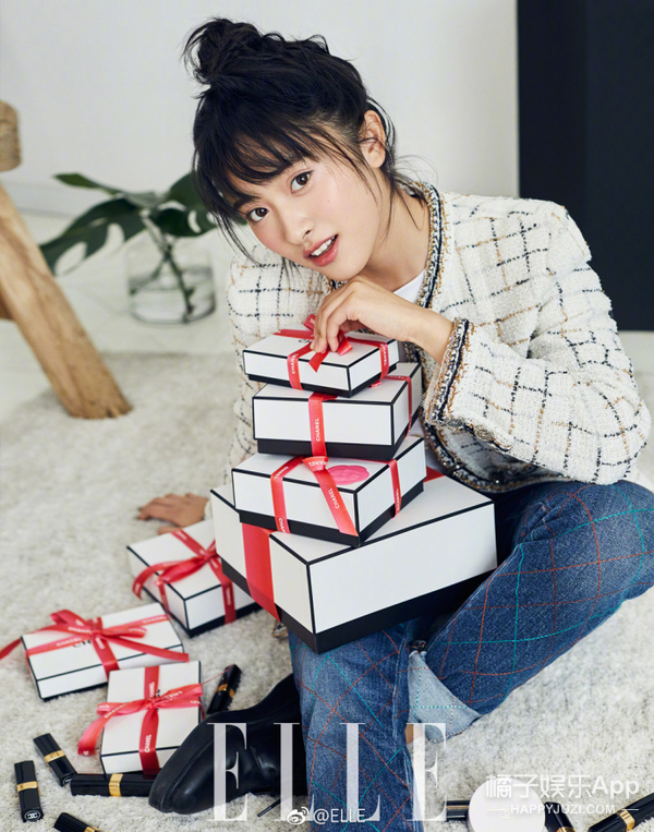 沈月妹子大刊首封清丽灵动 与新F4花美男集体亮相