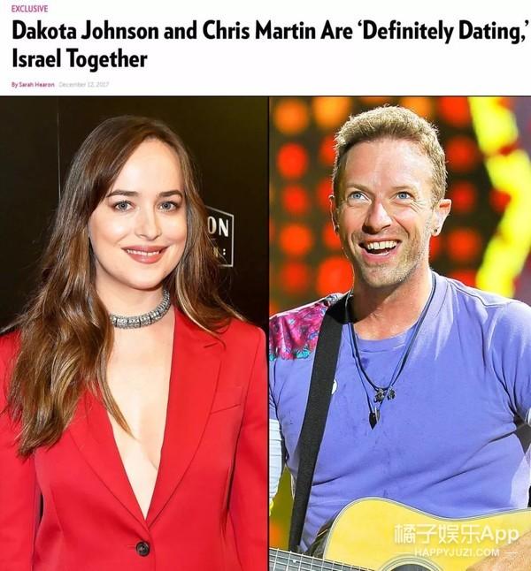 发糖!《五十度灰》女主与克里斯·马汀约会被拍到同框啦!