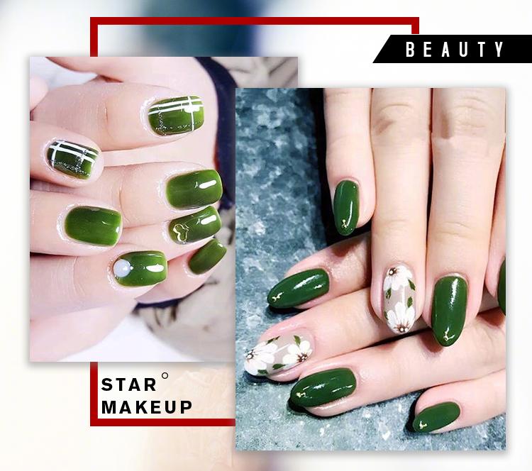 这个夏天,你最想尝试哪种绿色的美甲?