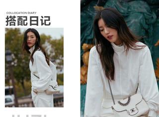 圣诞贺图千千万,刘雯的all white造型赢了!!