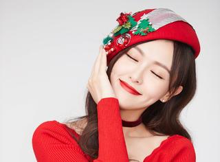 大红糖来啦!唐嫣圣诞节曝甜美写真
