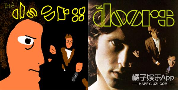 这个男人用粗暴的画技把这些专辑封面画成鬼...
