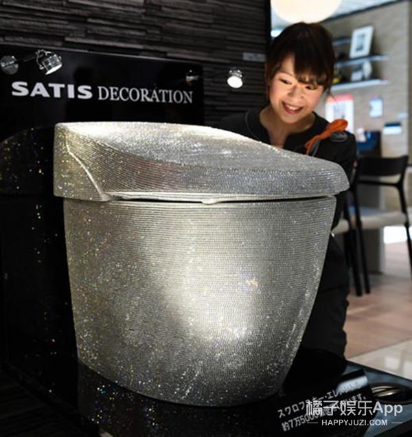 日本人做了马桶镶嵌了75,000颗水晶 我们来见识一下
