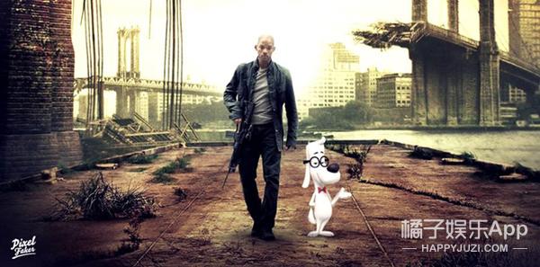 他把不同电影里的角色P到一起,然后瓦力爱上了小黄人
