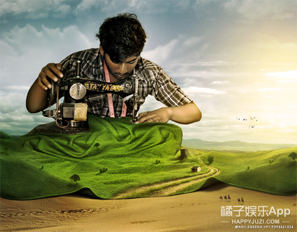 还在借位拍照?这位印度艺术家把大自然都玩脱了
