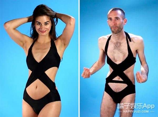 当男人们穿上了女人的泳衣 奇妙的事情发生了