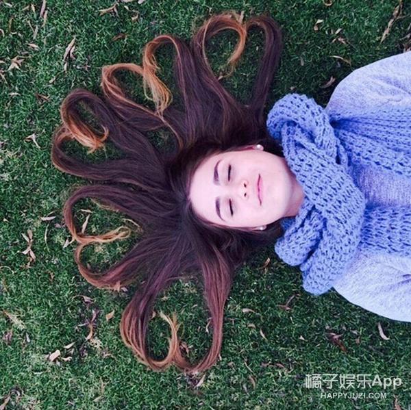 美拍上流行的心形头发 竟然火到国外 连金小妹都玩坏了