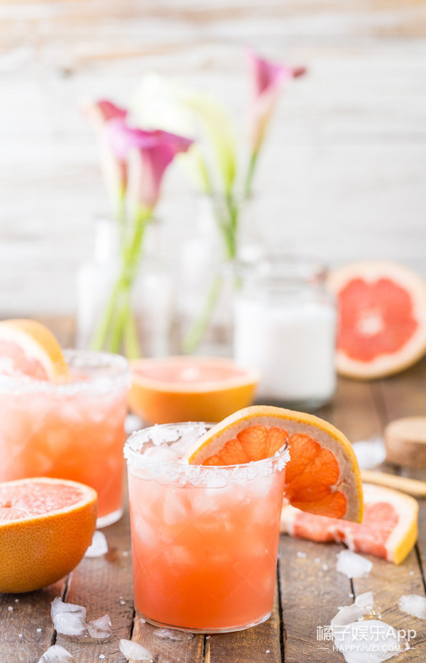 The Grapefruit Salty Dog with Red Grapefruit Juice