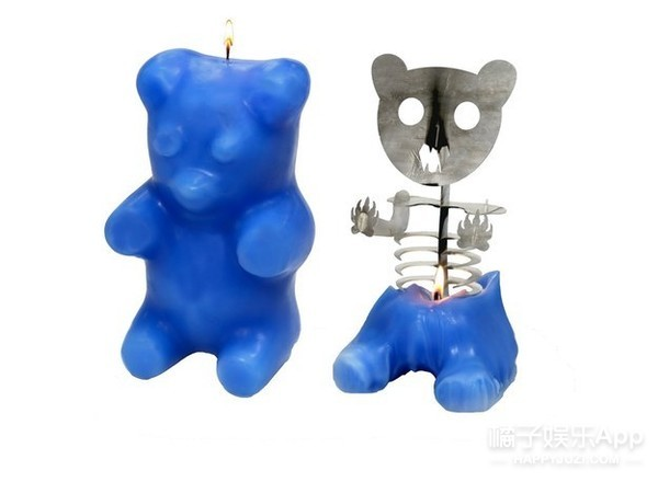 Skeleton Gummi Bear Candle ($55)