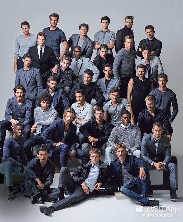 31位顶级男模的大片拍摄现场,这满屏的雄性荷尔蒙!
