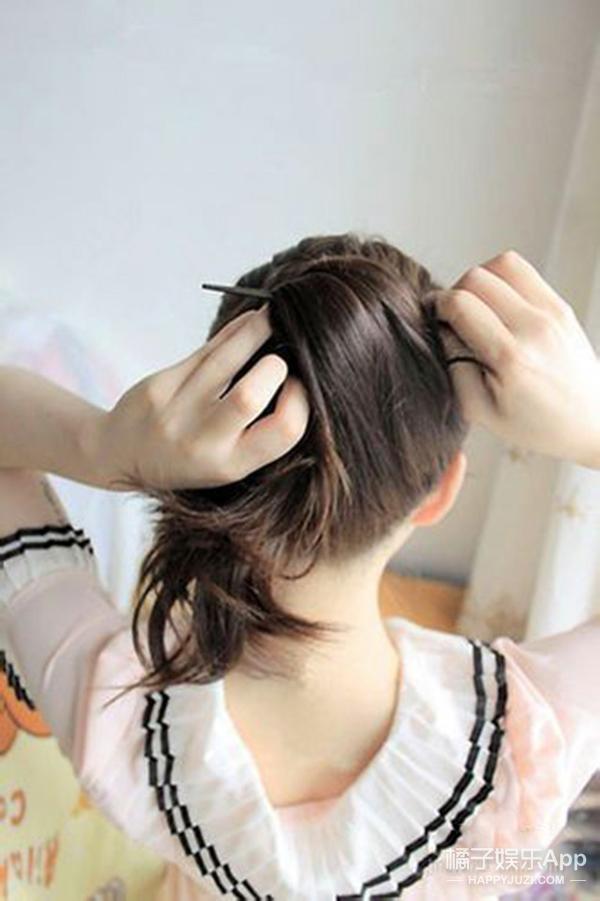 学用一根簪子快速盘头发!