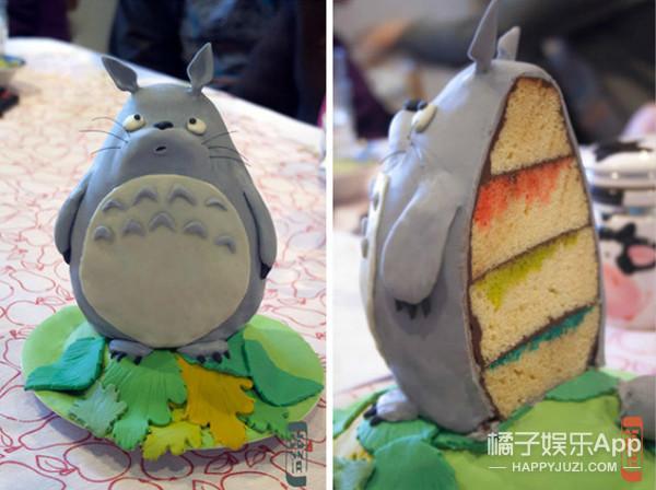 20款看上去非常美味又可爱的龙猫蛋糕,问题是你舍得吃吗?