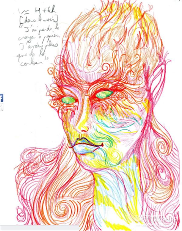 画家服下LSD迷幻药定时完成自画像,终于知道毒品的效果这么可怕!