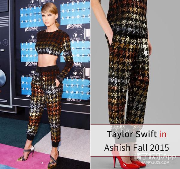 Taylor Swift竟然带了3双鞋去领奖?