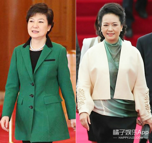 彭麻麻&朴槿惠,她们都是阅兵式上靓丽的风景线!