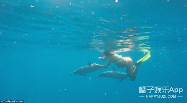 """这也可以?!夏威夷女子打算在大海中生孩子,海豚当""""接生婆"""""""