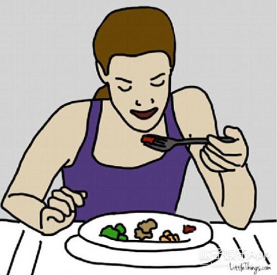 吃着吃着饭,突然暴露了自己的性格!