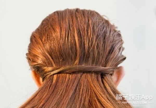 扎发不用发绳也可以!散下长发不留印!
