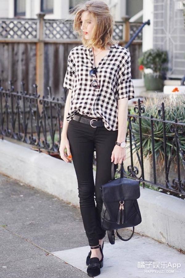 【今天穿啥】格子衫搭配修身裤,简约才是真时尚