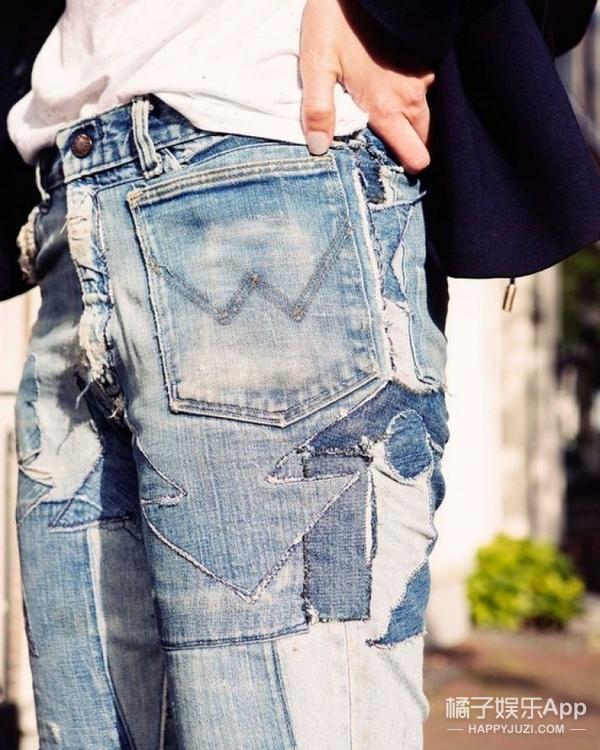 古力娜扎的衣服全是补丁,其实现在最流行?!