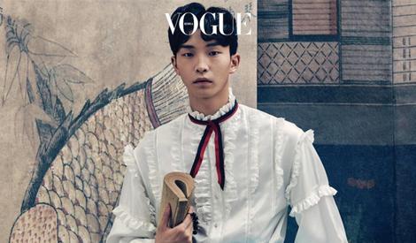 权志龙穿女装登《VOGUE》封面,摘下眼镜的他你还能认出来么?