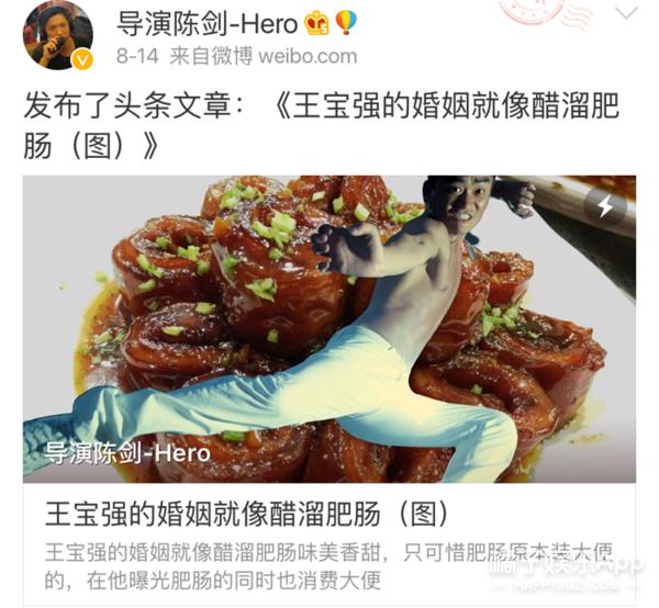 导演陈剑力挺马蓉,还说要娶她为妻?这人到底sei?