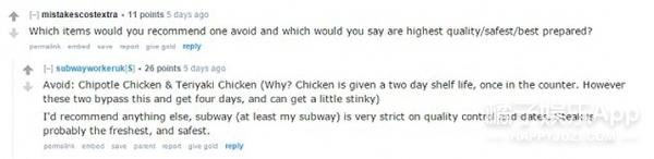 鸡肉发臭?晚上买更便宜?subway经理亲自解答不为人知的5个行业秘密