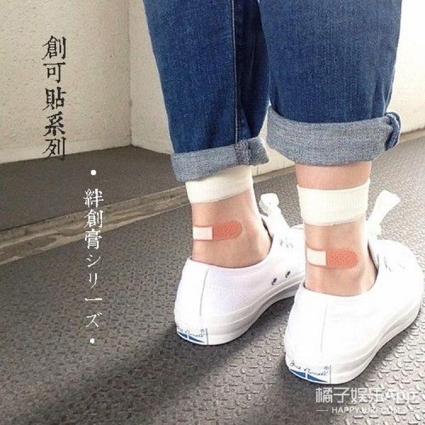 同样是腿受伤贴创可贴,白百何比孙怡玩儿得更高级