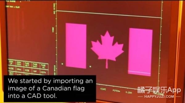 加拿大工程师创造世界最小国旗,大小只有头发丝的百分之一!