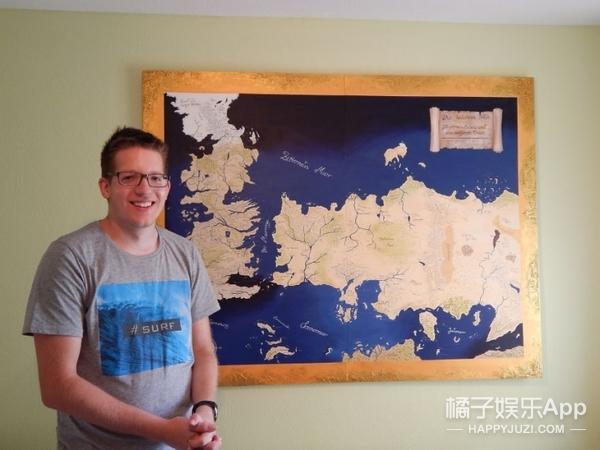 小伙为送哥哥生日礼物,手绘了一幅《权利的游戏》地图!