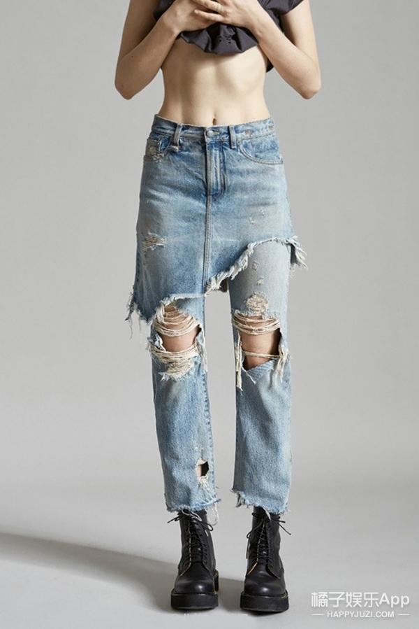 目测要火!Gigi穿上这件牛仔裙裤,走路都带风!