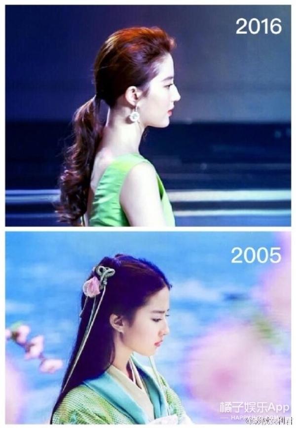 刘亦菲十年前后竟然没有一点变化,看完照片我惊呆了
