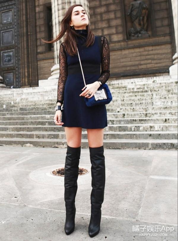 【一衣多穿】还想穿裙so easy,过膝靴好搭配着呢!