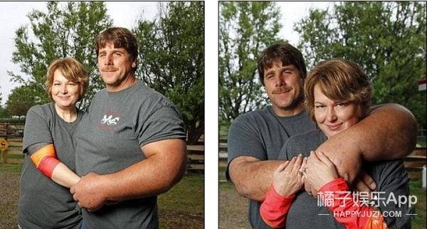 真实版大力水手,美国男子有着极其粗大的手臂