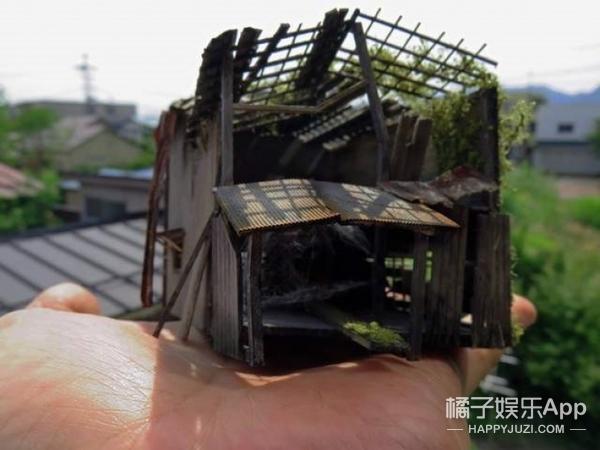 日本男子做出超迷你废墟模型,太不可思议了