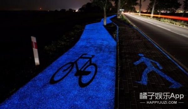 最美自行车道!波兰会发光的自行车道宛若星空