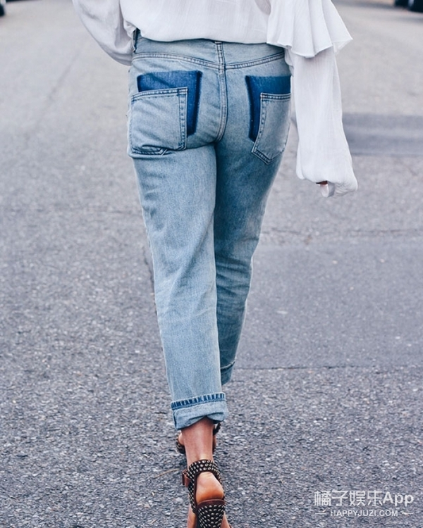 Vetements拼接牛仔裤不花大钱也能有!这样DIY一下就可以啦!