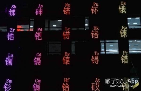 沈阳街头现化学元素周期表大楼