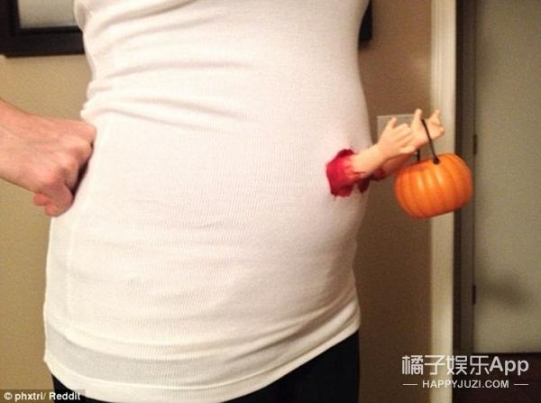 万圣节装扮最大赢家是孕妇妈妈,让你笑到哭吓到哭
