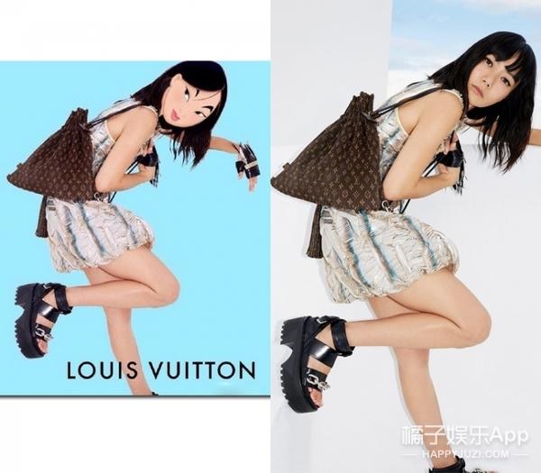花木兰代言LV,爱丽丝代言Chanel,穿上高级时装的她们相当给力!