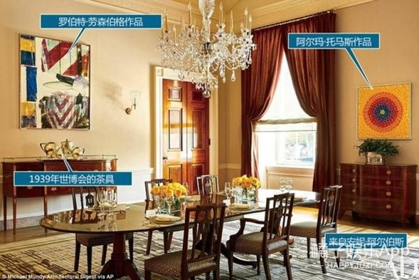 奥巴马的白宫客厅卧室原来长这样