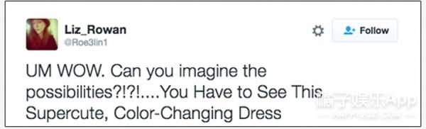 Word妈!这有一条穿上会变色的裙子!真的没有PS!
