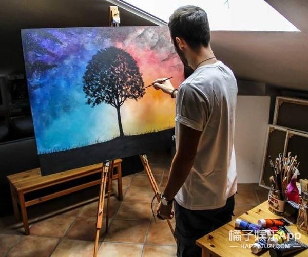 国外艺术家的荧光画,到了晚上会变得超梦幻