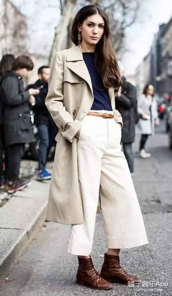 【穿衣MorningCall】 穿大衣配阔腿裤,不臃肿还有风度!