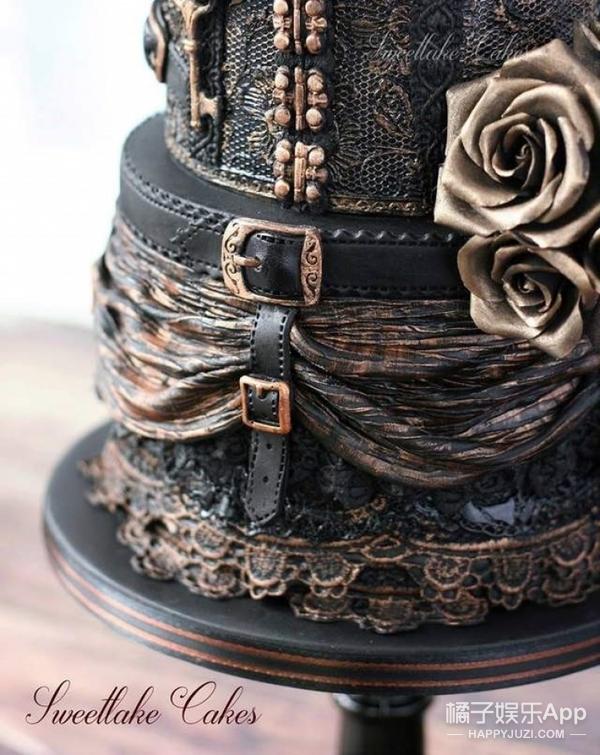 天哪噜,国外这家店专做暗黑哥特风蛋糕,美哭